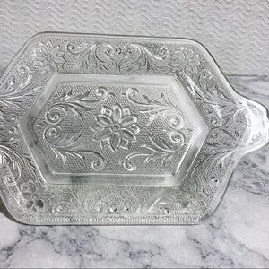 Vintage Indiana Glass Co 'Tiara' Tray